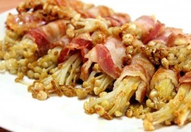 Nấm Kim châm cuộn thịt ba chỉ nướng